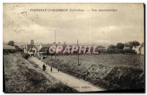 Old Postcard Fontenay le Marmion Panoramic Church 13th