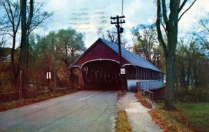 VT - Lyndon. Covered Bridge with Side Walk