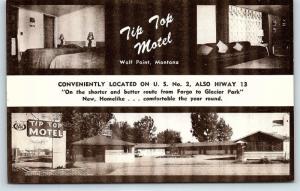 Postcard MT Wolf Point Tip Top Multiview Interior R29