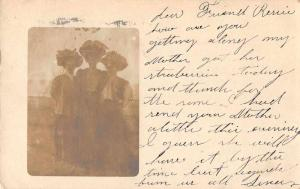Baltimore Maryland Ladies in Hats Real Photo Antique Postcard J61719