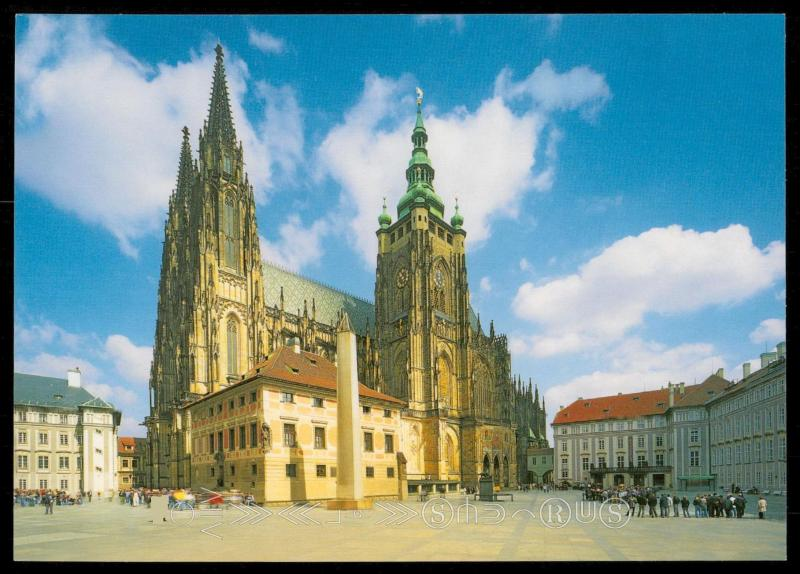 Prague - The Prague Castle - St. Vitus Cathedral