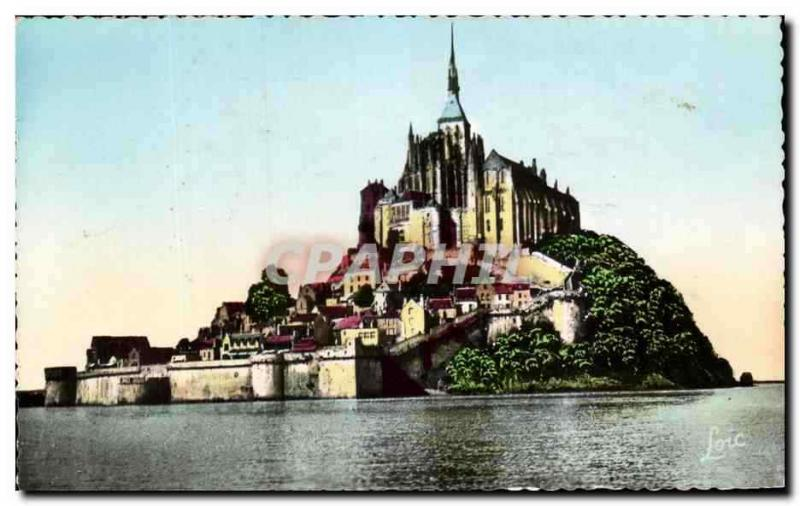 VINTAGE POSTCARD Cote D' Emeraude the Holy Mount Michel Vu of the Hotel