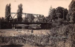 River Scene Bellevue MI 1910