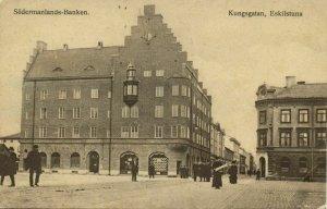 sweden, ESKILSTUNA, Kungsgatan, Södermanlands-Banken (1913) Postcard