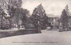 Virginia Hampton Entrance to Hampton Institute Grounds Hampton Institute Albe...