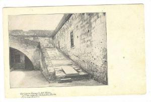 Old Coquina Stairway In Fort Marion, St. Augustine, Florida, 1900-1910s