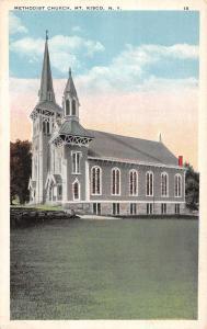 Mt Kisco New York Methodist Church Exterior Street View Antique Postcard K26315