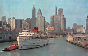 10846  S.S. North American  Towed out of Chicago River