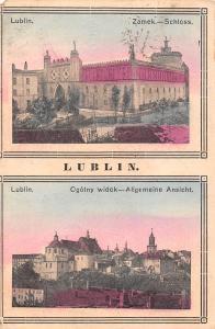 Poland Lublin Zamek-Schloss Ogolny widok - Allgemeine Ansicht 1916