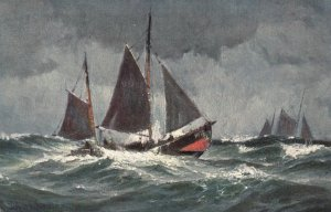 AS: Sailing Vessels in rough water, 1900-10s