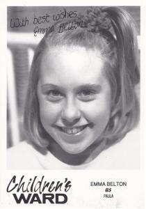 Emma Belton as Paula in Childrens Ward TV Show Vintage Signed Cast Card