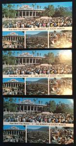 Unused Postcards (3) Rose Bowl Flea Market California LB