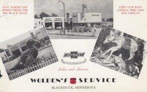 BLACK DUCK , Minnesota, 1955 , Wolden's Service Gas Station