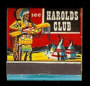 HAROLDS CLUB CASINO Reno 1950's Full Unstruck Matchbook