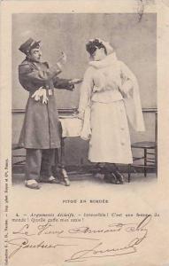 Female Pierrot Clown & Soldier, Pitou en Bordee, PU-1902