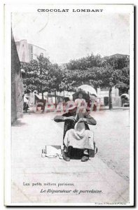 Old Postcard Pottery Ceramic Small Parisian crafts porcelain repairer The Lom...
