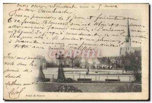 Postcard Dijon Old St. Peter's Square
