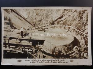 America Construction of MIGHTY DAM Poss ROOSEVELT DAM Original Pathe News Old PC