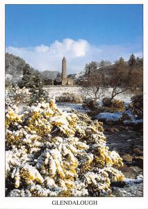Spring snow in the Vale of Glendalough Co Wicklow Ireland