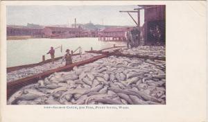 Salmon Catch, 30M Fish, PUGET SOUND, Washington, PU-1934