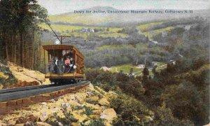 Down Incline Train Uncanoonuc Mountain Gofftown New Hampshire 1910c postcard
