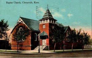 Baptist Church Cherryvale Kans. Kansas Vintage Postcard Standard View Card