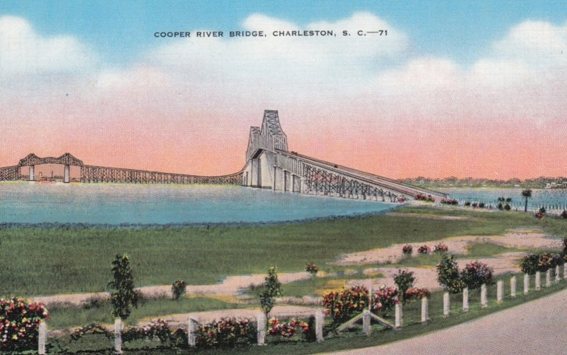 CHARLESTON, South Carolina, 1930-40s; Cooper River Bridge