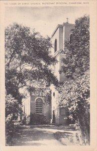 Massachusetts Cambridge The Tower Of Christ Church Protestant Episcopal