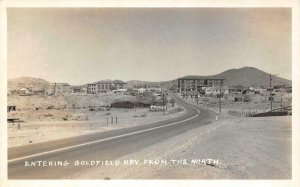 RPPC Entering Goldfield, Nevada Harold's Club Sign c1950s Vintage Photo Postcard