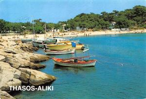 Greece Thasos-Aliki, port boats bateaux, boote 1988