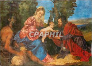 Modern Postcard Madonna and Child with St John National Gallery of Scotland