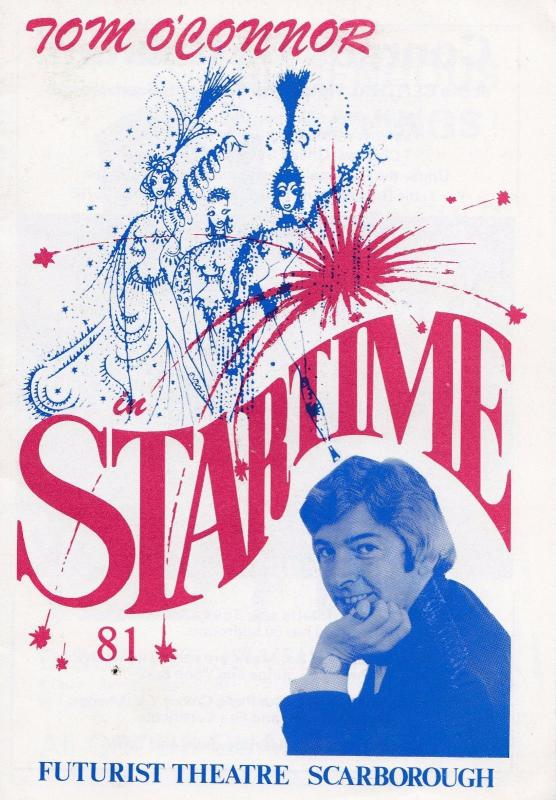 Tom O Connor Startime in Scarborough 1980s Theatre Programme