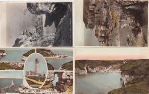 A Peep Through The Rocks Flamborough Yorkshire Vintage 4x Postcard s