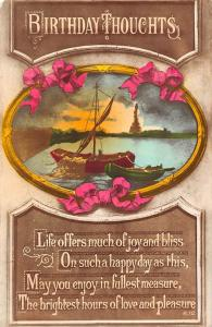 Birthday Thoughts Life offers much of joy and bliss boats, ribbons