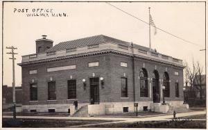 Willmar Minnesota~US Post Office~Boys on Steps~1912 Real Photo Postcard~RPPC