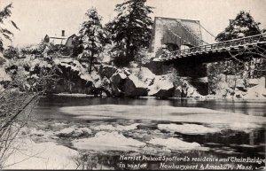 Massachusetts Newburyport & Amesbury Harriet Prescott Spoffords Residence & C...