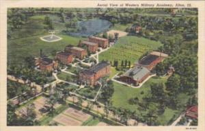 Illinois Alton Aerial View Of Western Military Academy Curteich