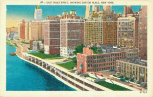 USA - East River Drive Showing Sutton place - New York 01.84