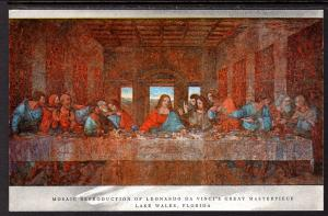 Mosaic Reproduction of Da Vinci's Painting,The Last Supper