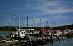 Fishing Boats, Wellfleet Harbor Cape Cod MA Unused