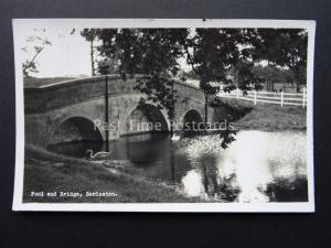 Staffordshire BARLASTON Pool & Bridge c1950's RP Postcard