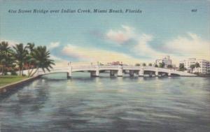 Florida Miami Beach 41st Street Bridge Over Indian Creek