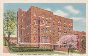 Indiana Martinsville New Highland Mineral Springs Sanitarium 1948 Curteich