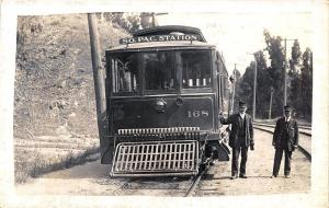South Pacific Station Trolley #168 RPPC Postcard