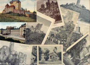 germany, 10 Early Postcards CASTLE SCHLOSS BURG RUINS RUINE KASTEEL (Lot 1)