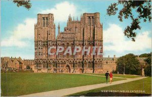 Modern Postcard West Front Wells Cathedral