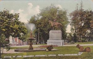 Pennsylvania Harrisburg Statue Of John Frederick Hortranft Capitol Park 1909