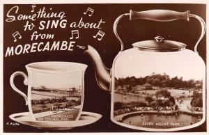 Morecambe Lancashire UK~Something to Sing About~Scene in Tea Kettle~1910 RPPC