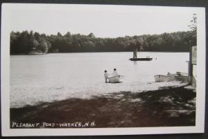 Pleasant Pond Warner NH Real Photo