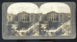 REAL PHOTO CHRISTIANA NORWAY NORGE PARLIAMENT HOUSE STEREOVIEW CARD